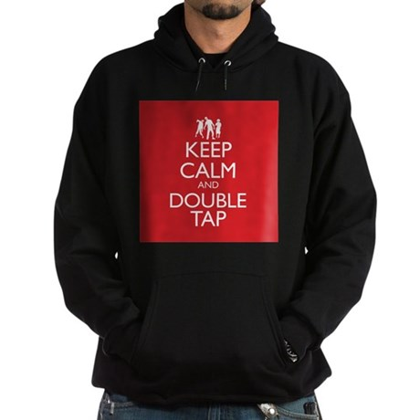 Keep Calm and Double Tap Hoodie (dark)