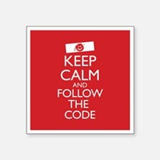 """Keep Calm and Follow the Co Square Sticker 3"""" x 3"""""""