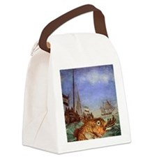 Seafood Reversed Canvas Lunch Bag