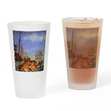 Seafood Reversed Drinking Glass
