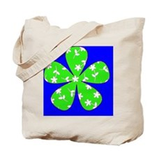 Blue Green Floral St. Patricks Day Irish Tote Bag