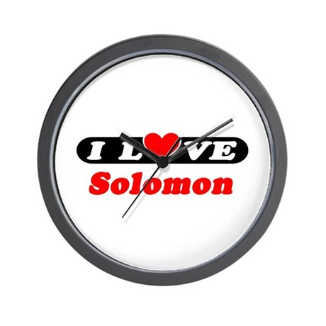 I Love Solomon Wall Clock