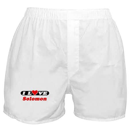 I Love Solomon Boxer Shorts