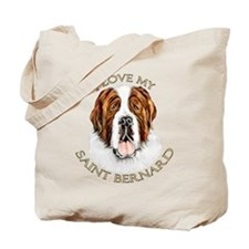 I Love My St Bernard Tote Bag