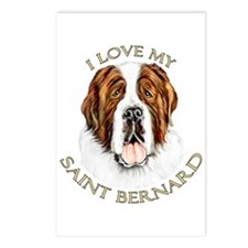 I Love My St Bernard Postcards (Package of 8)