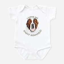 I Love My St Bernard Infant Bodysuit