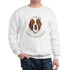 I Love My St Bernard Sweatshirt