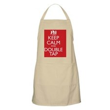 Keep Calm and Double Tap Apron