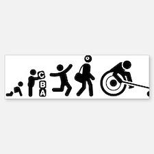 Wheelchair-Curling-E Bumper Bumper Sticker