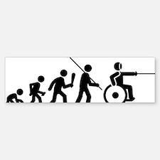 Wheelchair-Fencing-C Bumper Bumper Sticker