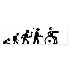 Wheelchair-Fencing-C Bumper Sticker