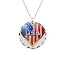 US Heart Necklace