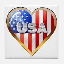 US Heart Tile Coaster