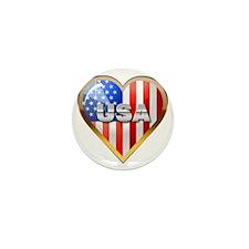 US Heart Mini Button