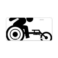 Wheelchair-Racing-A Aluminum License Plate