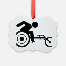 Wheelchair-Racing-A Ornament