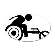 Wheelchair-Racing-A 35x21 Oval Wall Decal