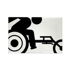 Wheelchair-Racing-A Rectangle Magnet