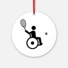 Wheelchair-Tennis-A Round Ornament