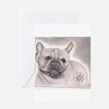 French Bull Dog Greeting Cards