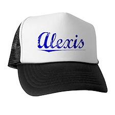 Alexis, Blue, Aged Trucker Hat