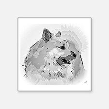 "Icelandic Sheepdog Shirt Square Sticker 3"" x 3"""