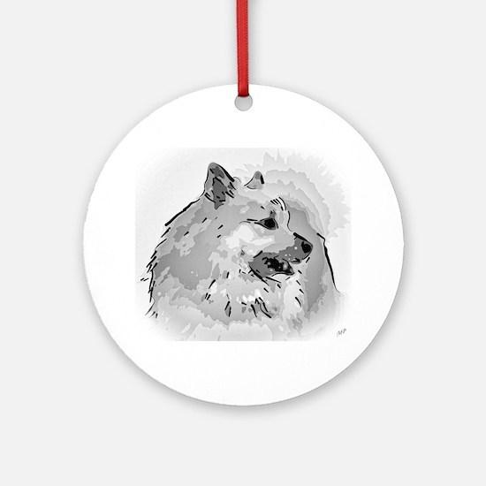 Icelandic Sheepdog Shirt Round Ornament
