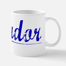 Amador, Blue, Aged Mug