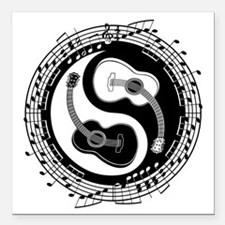 "guitar-yang-toony-LTT Square Car Magnet 3"" x 3"""