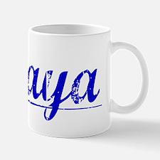 Amaya, Blue, Aged Mug