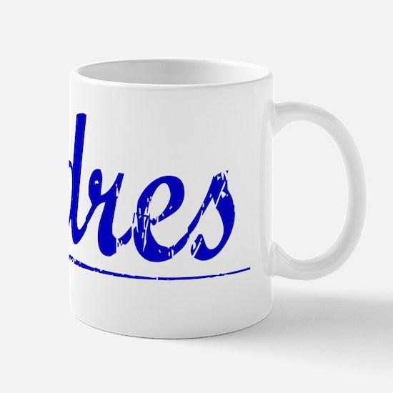 Andres, Blue, Aged Mug