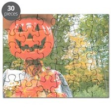 Mr. Pumpkin Depot Is Enjoying The Scenery. Puzzle