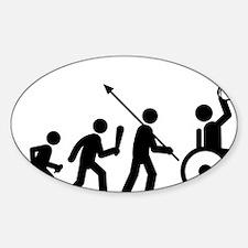 Wheelchair-Basketball-C Sticker (Oval)