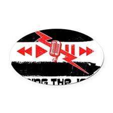 Doing the Job Oval Car Magnet