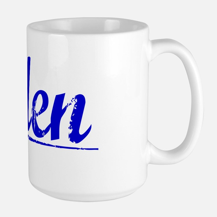 Aden, Blue, Aged Mug