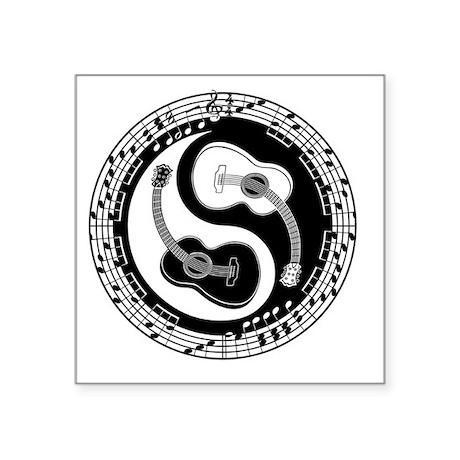 "guitar-yang-toony-DKT Square Sticker 3"" x 3"""