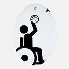 Wheelchair-Basketball-A Oval Ornament