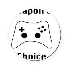 Weapon of Choice Game Controller Tee Cork Coaster