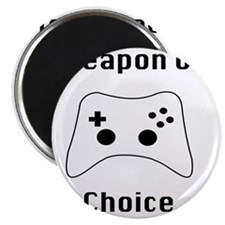 Weapon of Choice Game Controller Tee Magnet