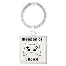 Weapon of Choice Game Controller T Square Keychain