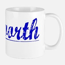 Ashworth, Blue, Aged Mug