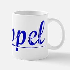 Appel, Blue, Aged Mug