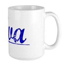 Alva, Blue, Aged Mug
