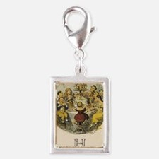 H is for Holidays Silver Portrait Charm