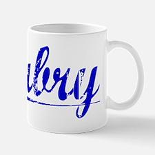 Aubry, Blue, Aged Mug