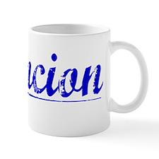 Asuncion, Blue, Aged Mug