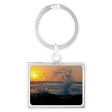 Sunset in Costa Rica Landscape Keychain