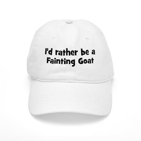 Rather Be A Fainting Goat Baseball Cap By Animalhut