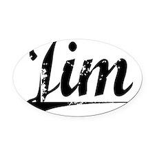 Jim, Vintage Oval Car Magnet