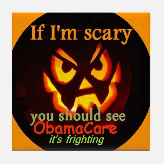 Halloween ObamaCare Tile Coaster